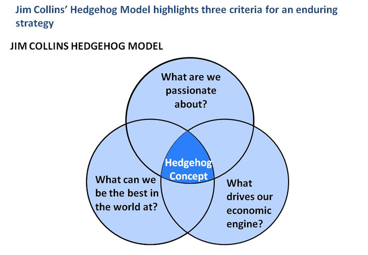 hedgehog concept An open challenge: applying jim collins' good to great - asking the tough questions  the hedgehog concept - perhaps the most important guiding principal,.
